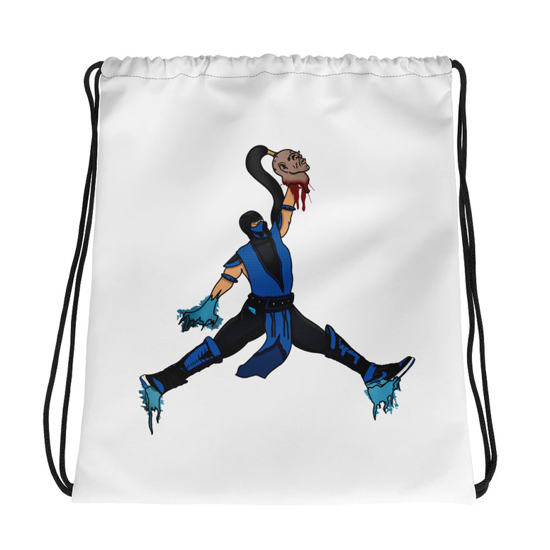 Corona virus face mask embroidery Air Zero: Air Jordan Subzero Drawstring bag