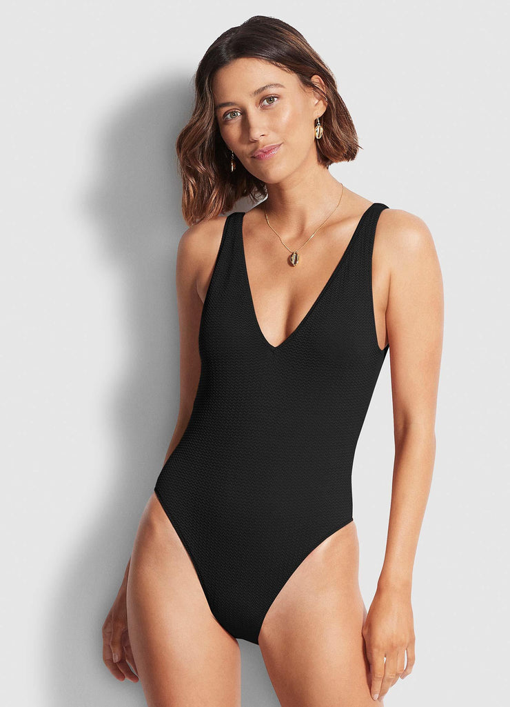 Sea Dive Deep V Neck One Piece