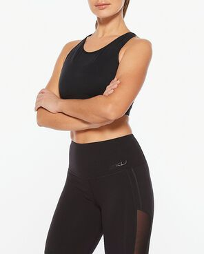 2XU Active Overlay Crop - Black/Black