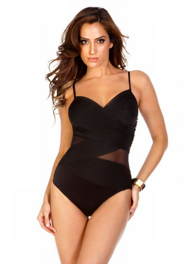 Miraclesuit Solid Mystify Tummy Control One Piece Swimsuit