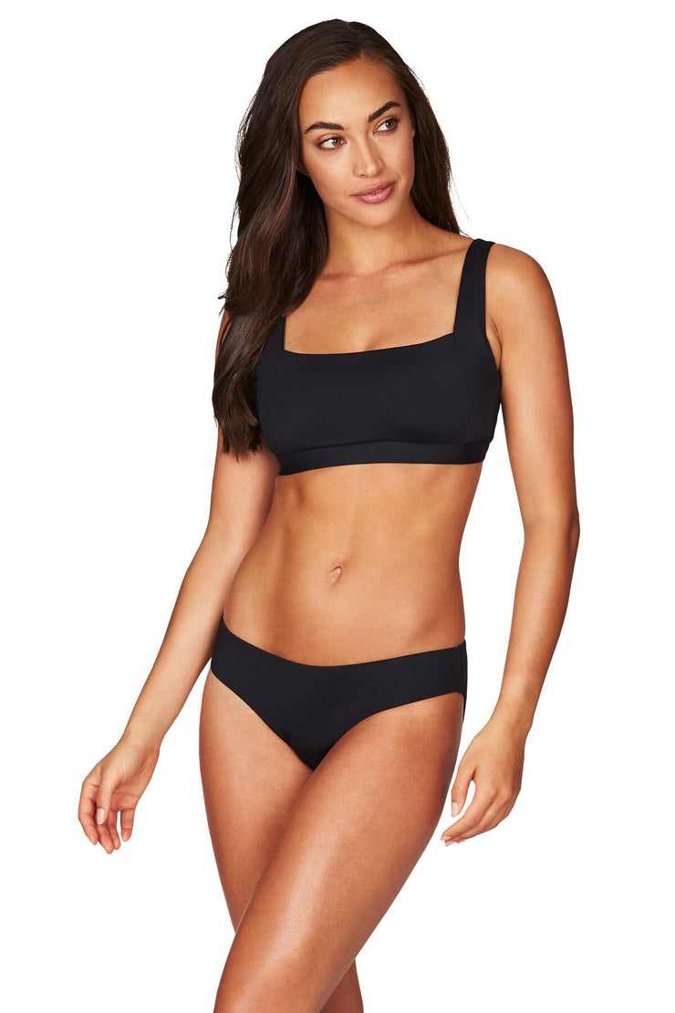 Essentials Square Neck Bra Top - Black