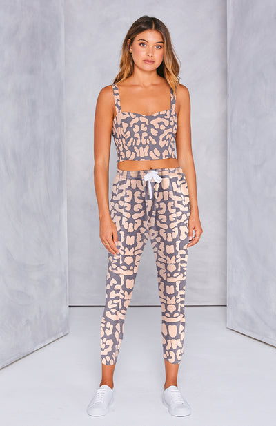 Kenji Comeback Pants - Blush / Grey Leopard