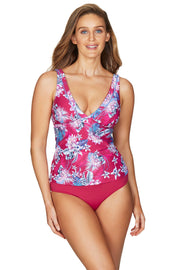 Bahamas Rose Spliced Singlet Top