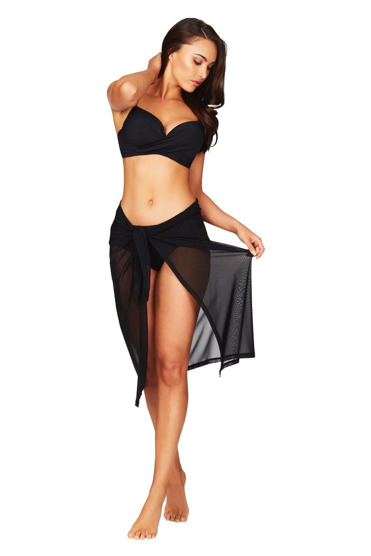 Sea Level Mesh Swim Wrap - Black