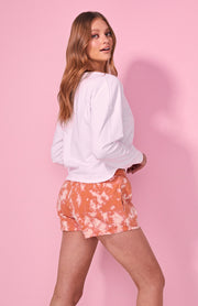 Milla Sweater - White / Pink Orbit