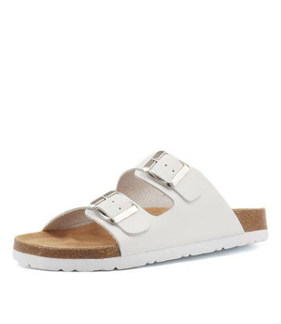 Human Shoes Laken Leather Slide - White