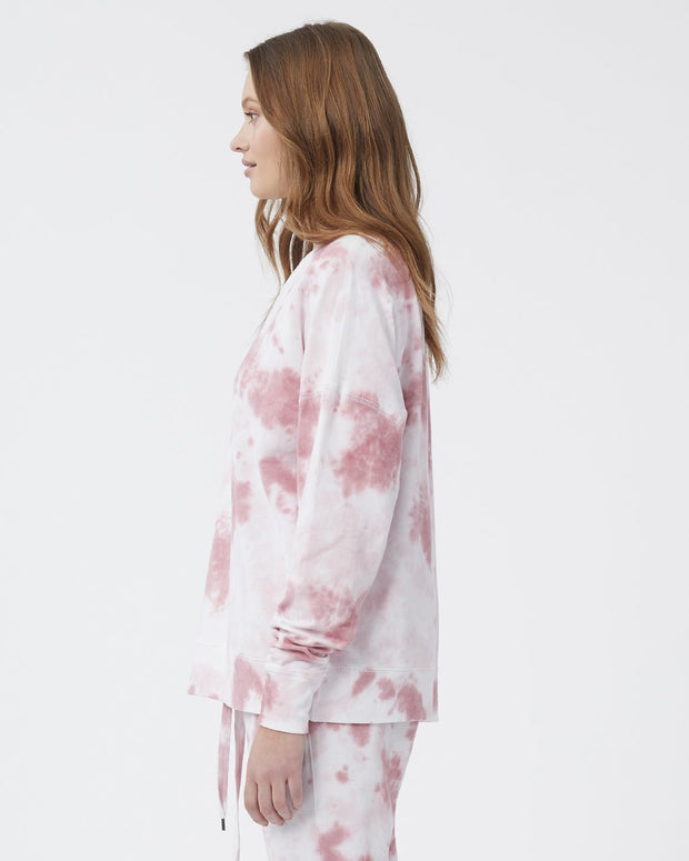Jade Sweater - Heavenly Pink/Vintage Rose Tie Dye