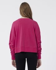 Lana Crop Sweater - Hot Pink