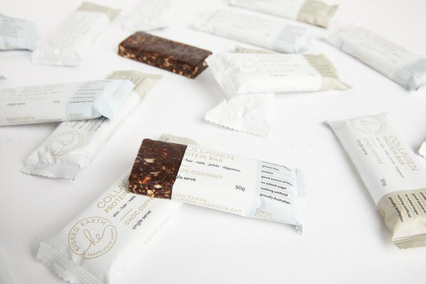 Kissed Earth Collagen Protein Bar - Choc Coconut - Single Serve