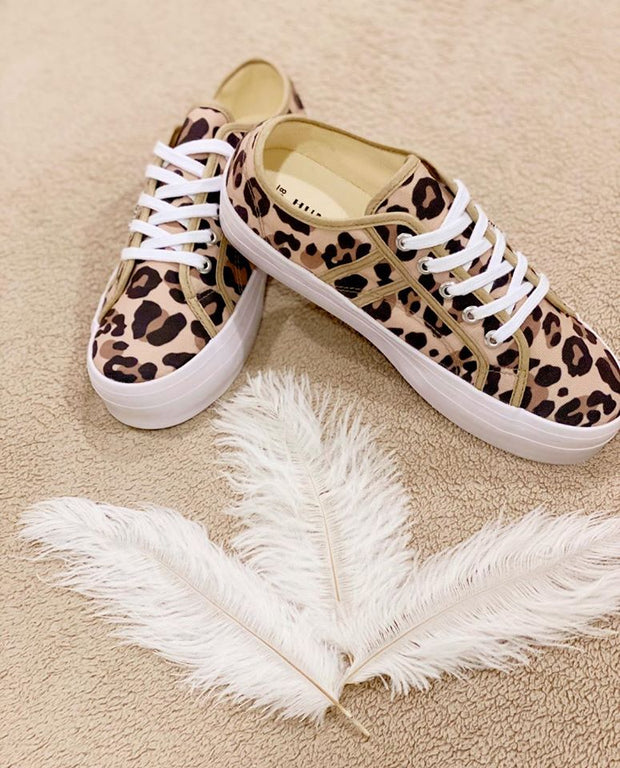 Human Shoes - Lift - Canvas Animal Print