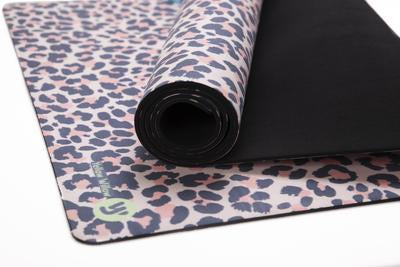 Yellow Willow Yoga Mat - Blush Leopard