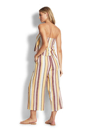 Safari Spot Stripe Cropped Pant