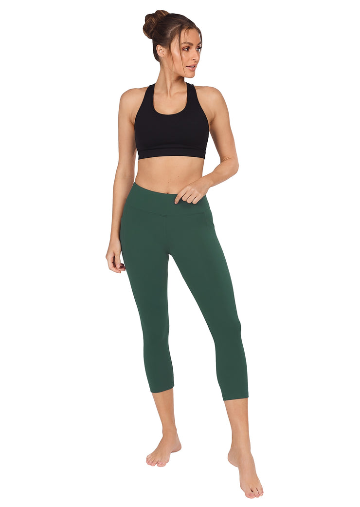 Bella Dual Pocket 7/8 Tight - Forest Green