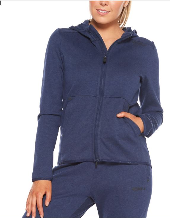 Commute Zip Up Hoodie - Navy Marle