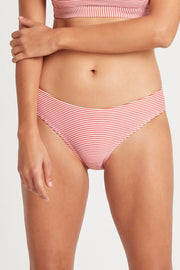 Positano Stripe Regular Bikini Pant - Orange