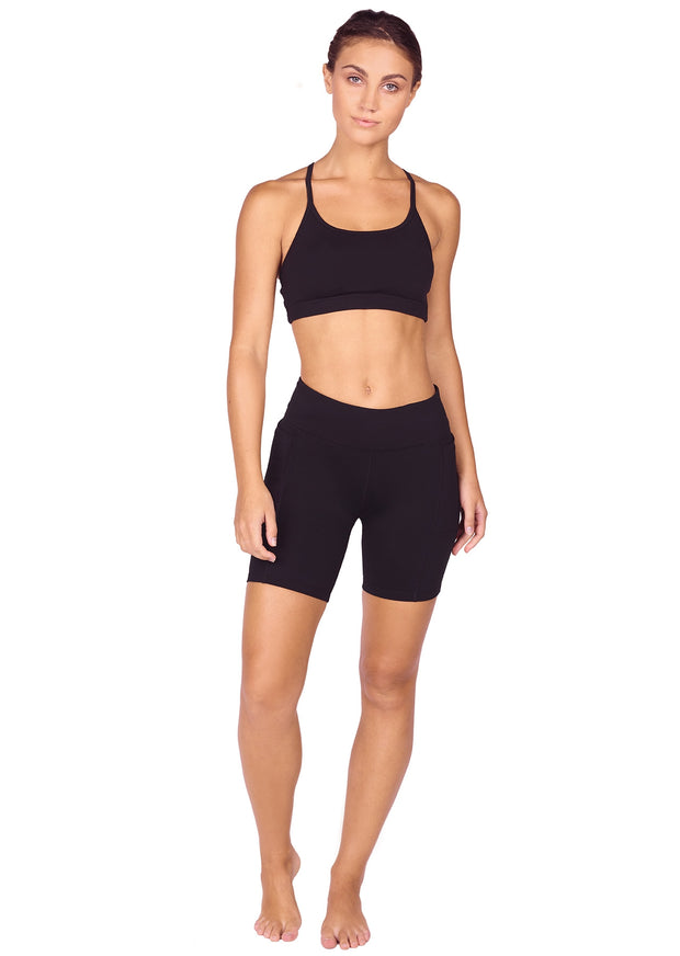 Endurance Dual Pocket Mid-Thigh Tight - Black