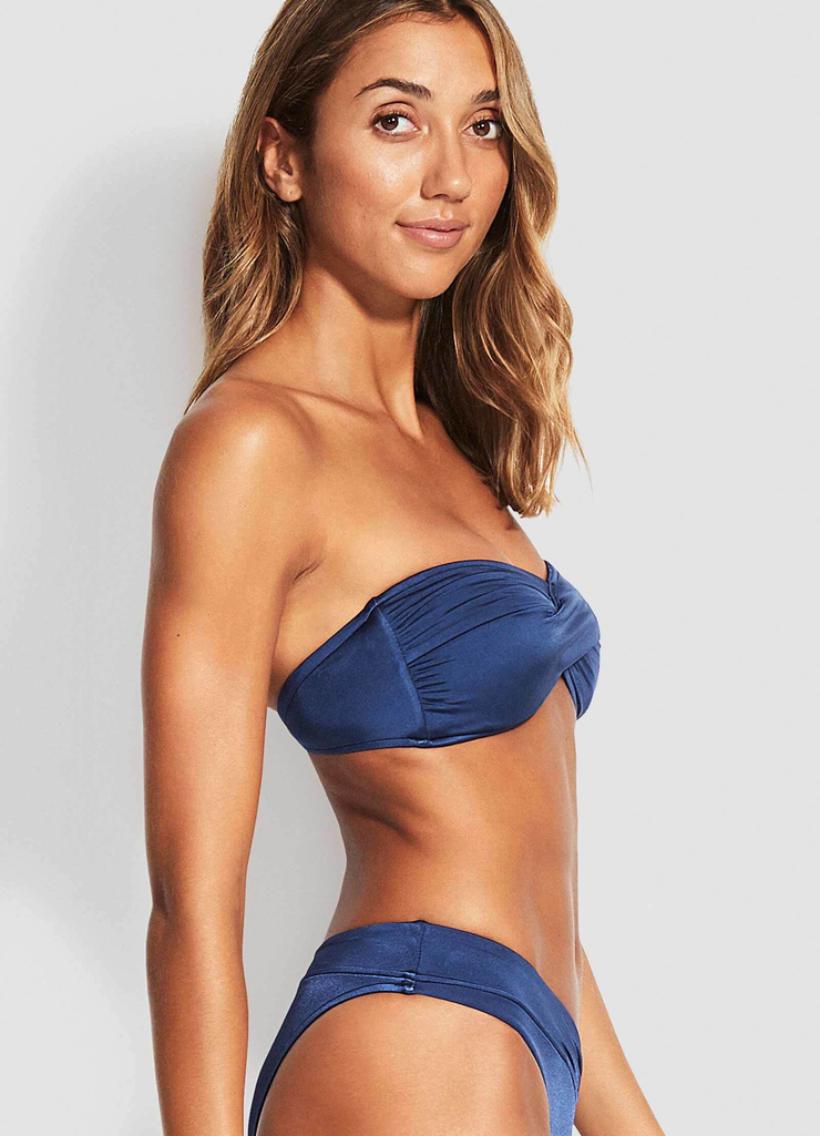 Shine On Twist Bandeau Bikini Top