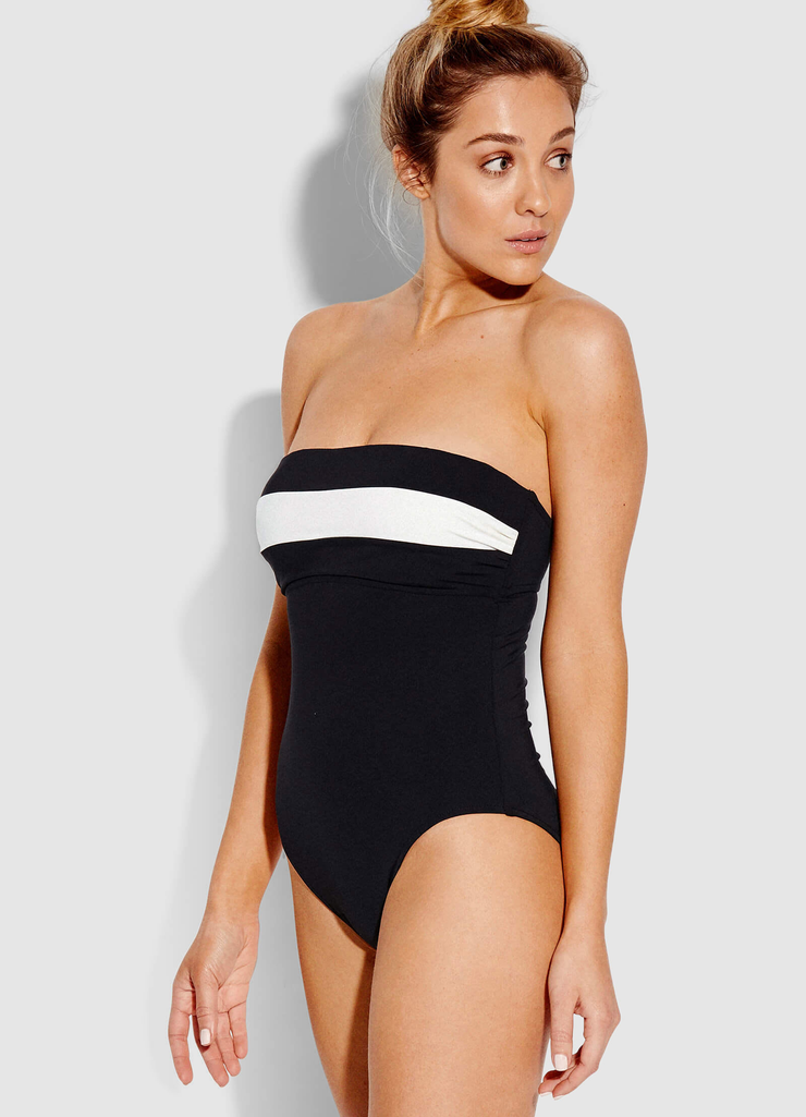 Pop Block DD Cup Bandeau One-Piece