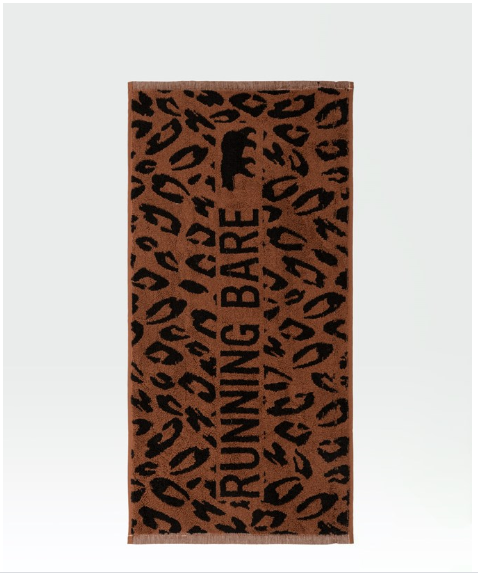 Jungle Out There Gym Towel - Caramel/Black