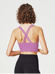 Lotus Sports Bra - Mauve Marl