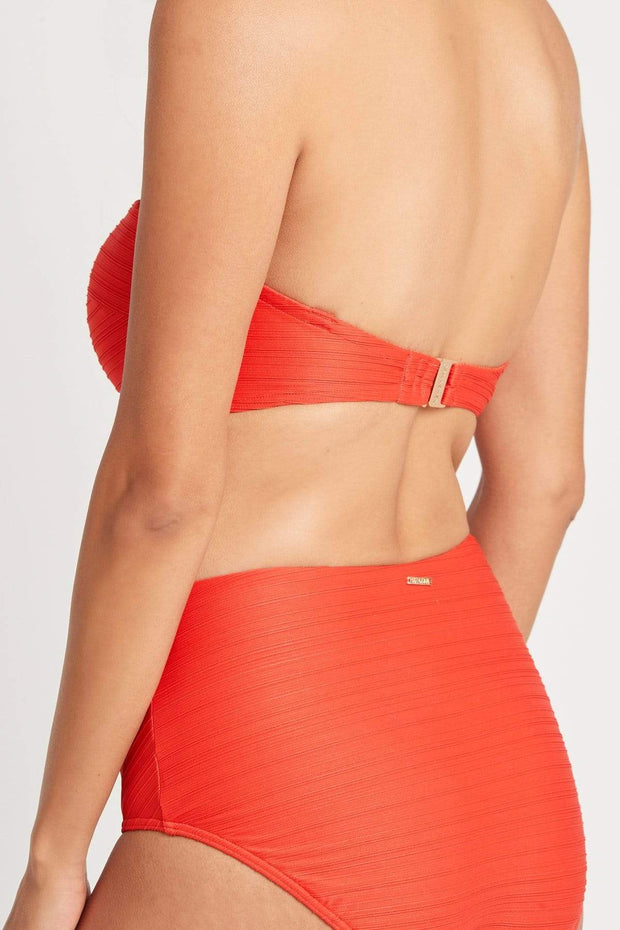 Casablanca Tube Bandeau Swim Top - Orange