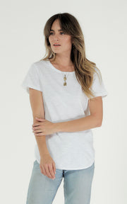 Clé Charlotte Tee - White