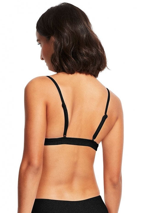 Seaside Soiree Fixed Tri Bra - Black