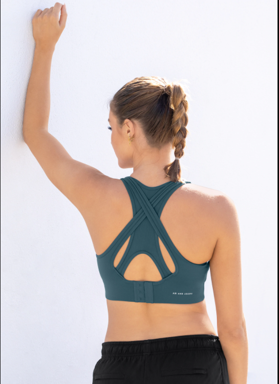 Solace Racerback Crop - Deep Sea