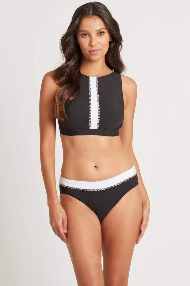 Valentina Mid Band Bikini Pant with Embroidery