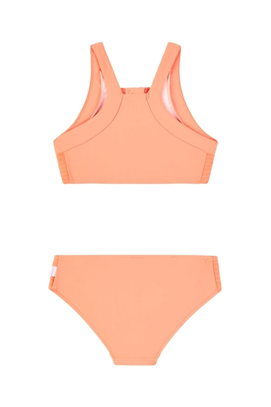 Seafolly Girls Zip Front Tankini - Papaya