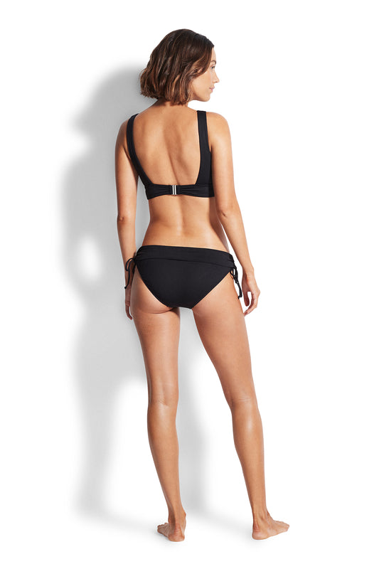 Seafolly Ruched Side Hipster - Black