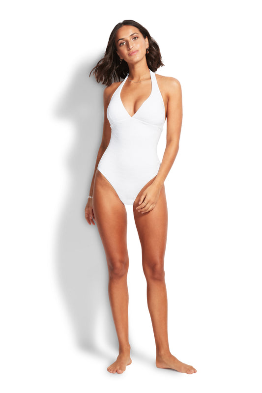 Seaside Sioree Halter Maillot