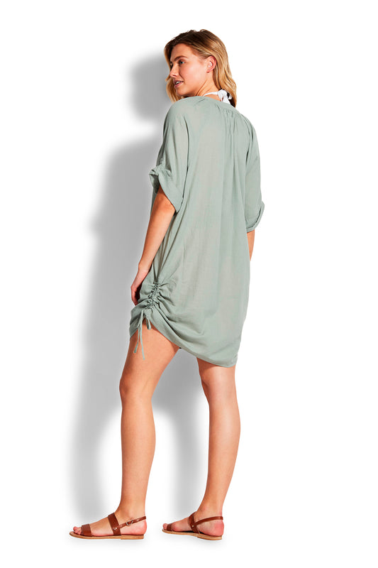 Beach Edit Textured Cotton Cover Up