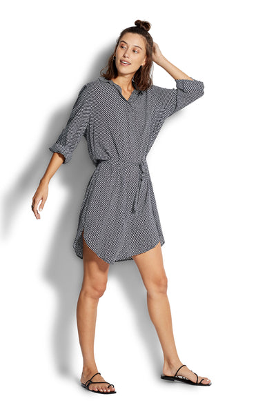 Spotted Shirt Dress