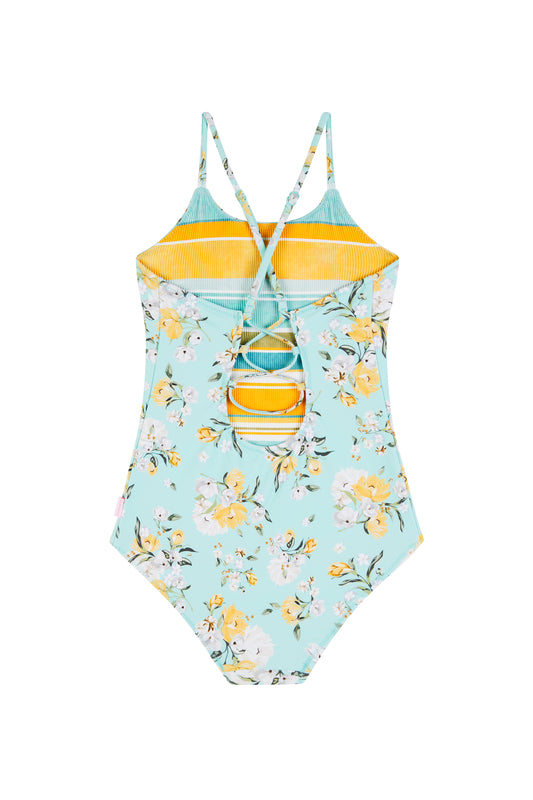 Spring Blossom Reversible One Piece Bather