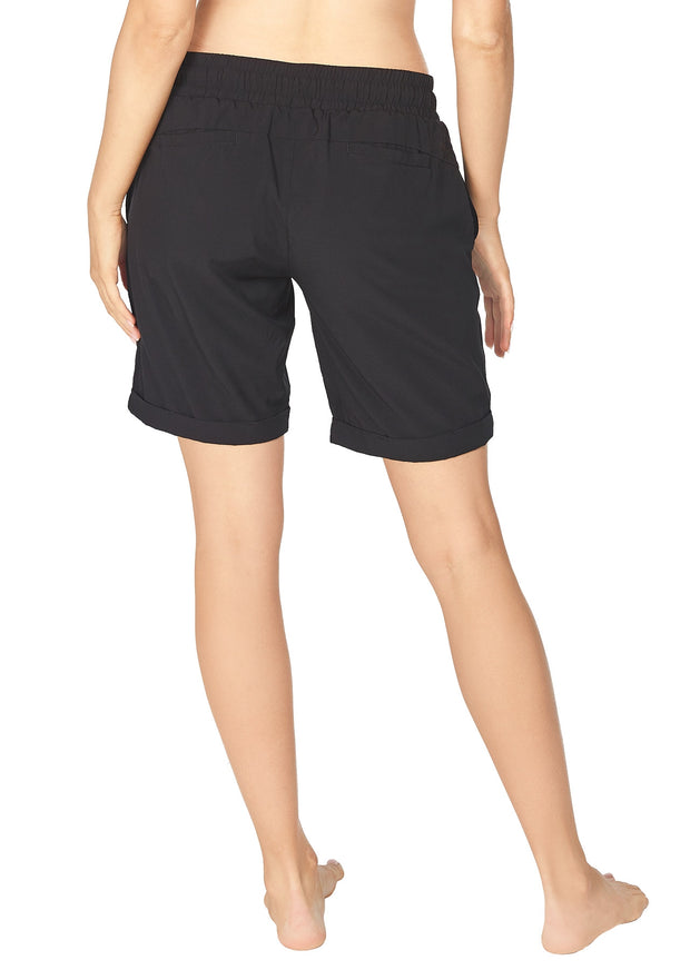 Wanda Longer Length Short - Black