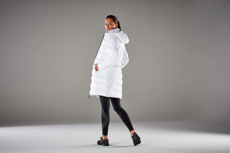 Utility Insulated Longline Jacket - White
