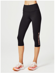 What Wots Ab-Waisted 3/4 Tight - Black / Peach Melba