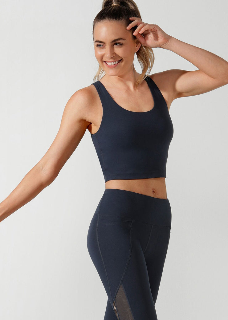 Brittney Cropped Active Tank