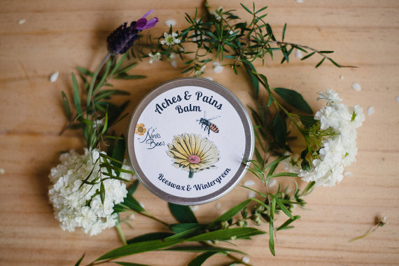 All Natural Aches & Pains Muscle Balm, Arthritis and After Surgery Joint and Muscle Rub, Botanical Salve with Beeswax and Wintergreen