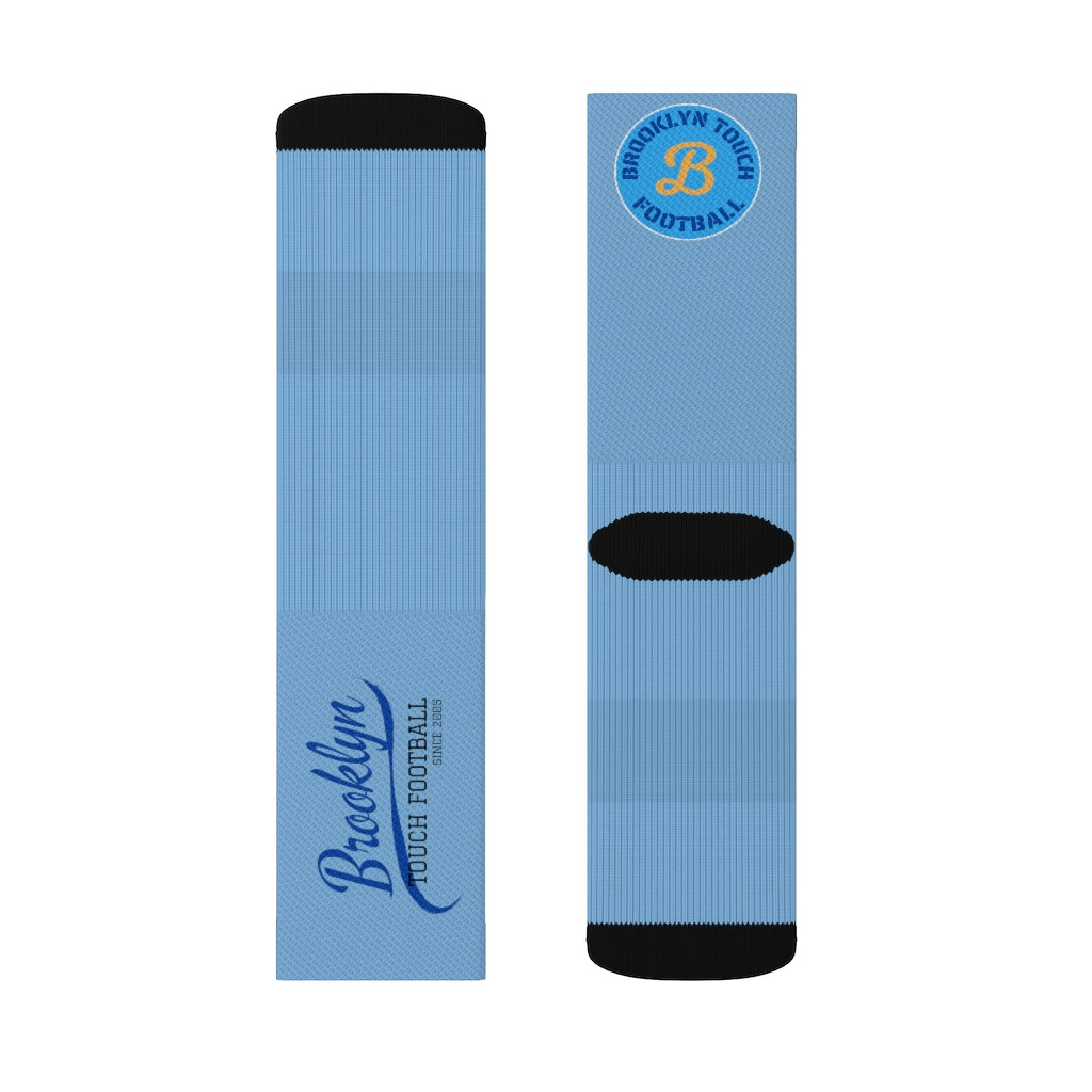 Brooklyn Football Blue Sublimation Socks