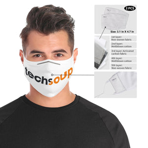 TechSoup Cloth Face Mask (w filters) FREE SHIPPING