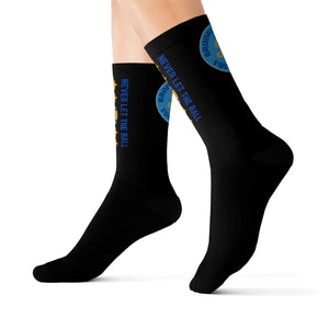 Brooklyn Football Never Let The Ball Touch The Ground Sublimation Socks