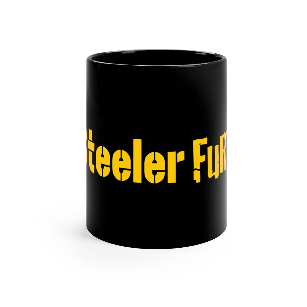 SteelerFury Black mug 11oz