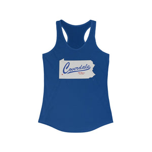 Coverdale State Map Women's Racerback Tank