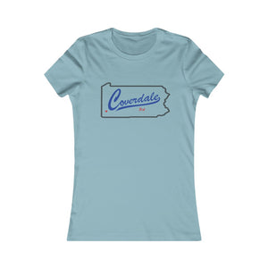 Coverdale State Map Women's Favorite Tee