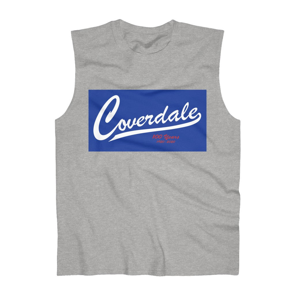 Coverdale Blue Logo Ultra Cotton Sleeveless Tank old