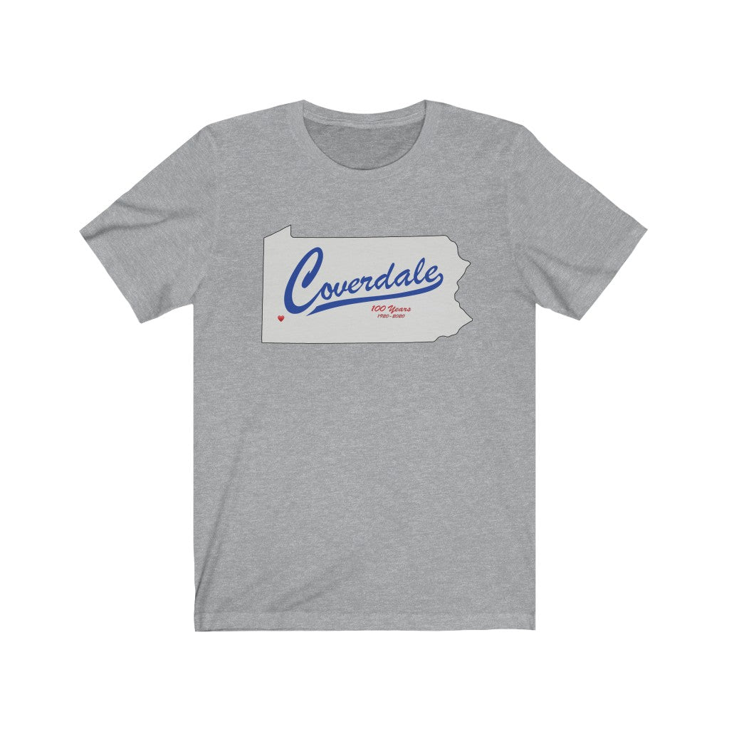 Coverdale State Grey Map Tee