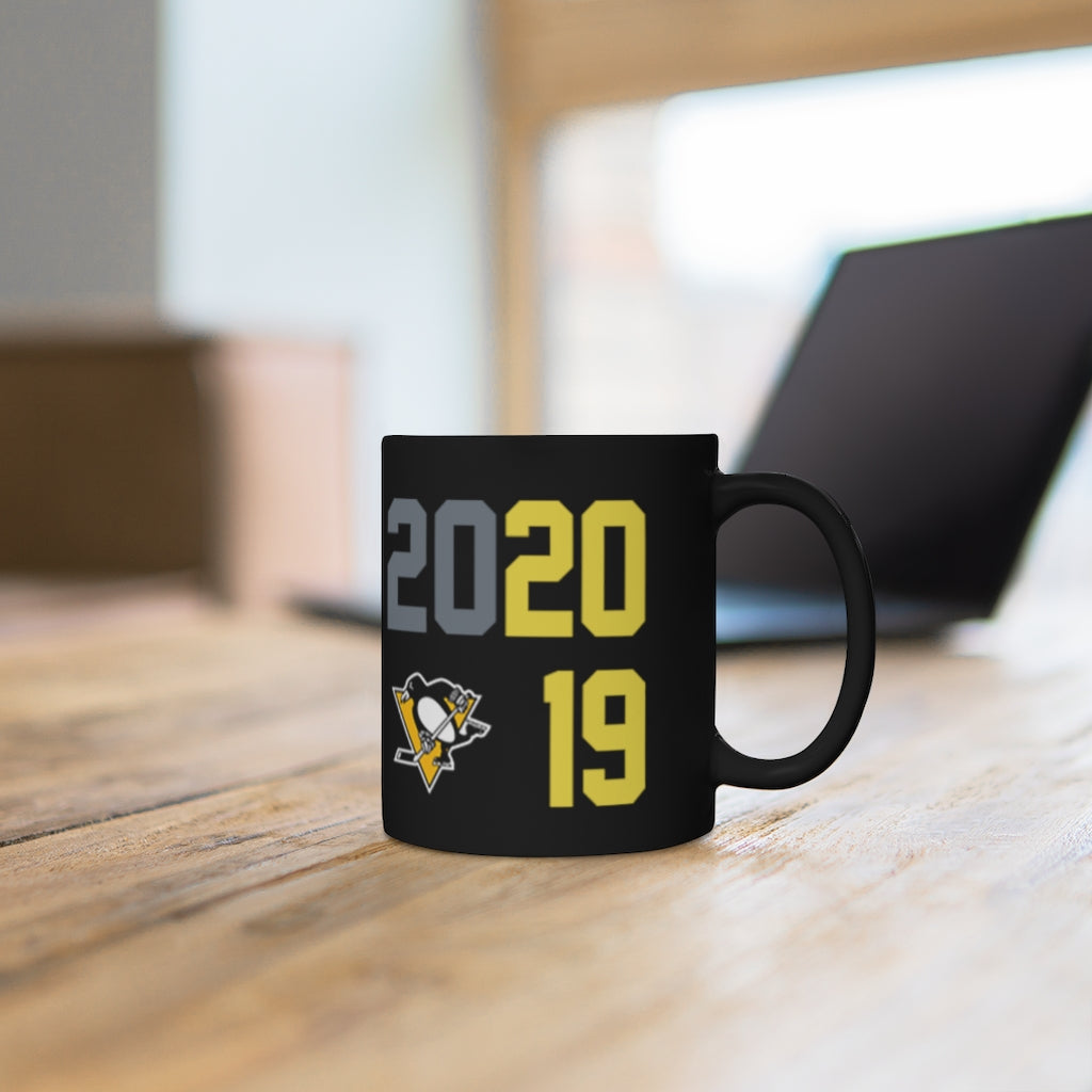 Pittsburgh Penguins Beat Covid Black mug 11oz