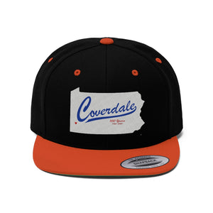 Coverdale State Map Flat Bill Hat